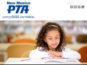 New Mexico PTA Website Screenshot