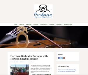 Harrison Orchestra New Website Design