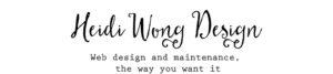Heidi Wong Design Header Image of script